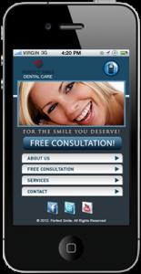 Mobile Website for Dentist