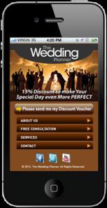 Wedding Planner Mobile Website